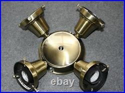 Casablanca Antique Brass K4S-4 2.25 Shade Ceiling Fan Light Kit Fixture Fitter