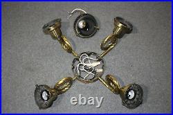 Casablanca Antique Brass K5L-4 4 Loop Arm Ceiling Fan Light Kit Fixture Fitter