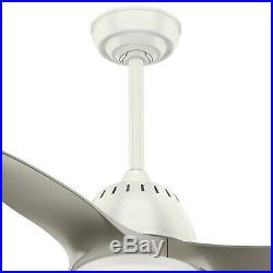 Casablanca Fan 44 inch Fresh White Contemporary Ceiling Fan with LED Light Kit