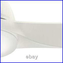 Casablanca Fan 52 in Contemporary Fresh White Indoor Ceiling Fan with Light Kit