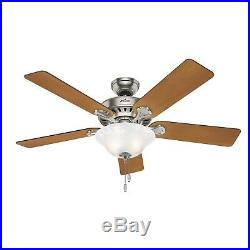 Casablanca Fan 54 in Architectural White Damp Ceiling Fan with Light Kit