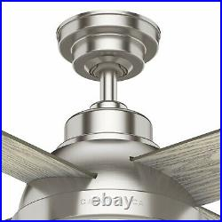 Casablanca Fan 54 in Casual Brushed Nickel Ceiling Fan with Light Kit and Remote