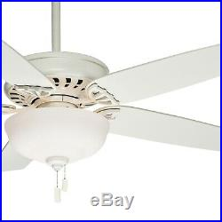 Casablanca Fan 54 inch Snow White Ceiling Fan with Light Kit and 2 CFL Bulbs