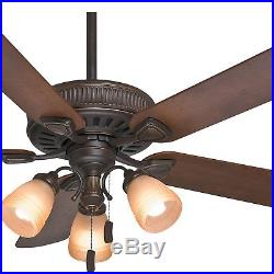 Casablanca Fan 54 inch Traditional Onyx Bengal Indoor Ceiling Fan with Light Kit