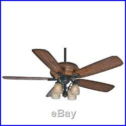 Casablanca HEATHRIDGE Heathridge 60 5 Blade Ceiling Fan Light Kit, Blades, an