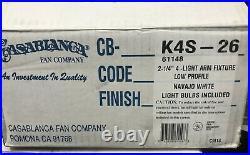 Casablanca K4S-26 4 Light Fitter for Ceiling Fan NAVAJO WHITE