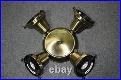 Casablanca K4S-4 Antique Brass Ceiling Fan 4 Light Kit Fixture Fitter 2.25