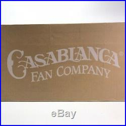 Casablanca Piston 52 in. LED Indoor/Outdoor Sage Green Ceiling Fan with Light Kit