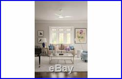 Casablanca Wisp LED 52 Satin White Indoor Ceiling Fan with Light Kit and Remote