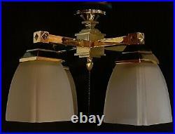Casablanca ceiling fan light kit K4W-2 polished brass with glass included