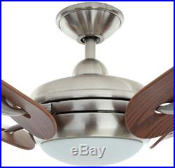 Cassaro II 52 Brushed Nickel Ceiling Fan with Remote Control and Light Kit