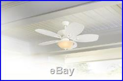 Cedar Shoals 44in White Indoor/Outdoor Ceiling Fan with Light Kit Remote Control