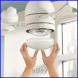 Ceiling Fan 36 Inch Integrated LED Light Kit Matte White Dual Fans Oscillating