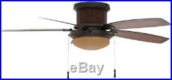 Ceiling Fan 48 in. Light Kit LED Dome Rustic Indoor Outdoor 5 Blades Pull Chain