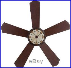 Ceiling Fan 52 in. 5-Blade Reversible Motor 3-Speed Remote Control Light Kit
