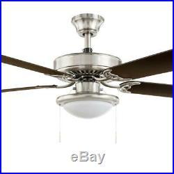 Ceiling Fan 52 in. 5 Blades 3-Speed Reversible Motor LED Light Kit Included
