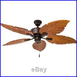 Ceiling Fan 52-in Oil Rubbed Bronze Indoor/Outdoor Downrod Mount with Light Kit