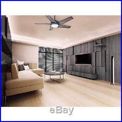 Ceiling Fan 54 Modern Style Aged Steel 4 Speed LED 5 Blade With Light Kit Remote