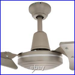 Ceiling Fan 60 in. 4-Speed AC/Reversible Motor Wall-Switch Light Kit Compatible