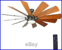 Ceiling Fan 60 in. LED Indoor Espresso Bronze Light Kit Remote Control Adjust