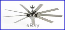 Ceiling Fan 72-in Brushed Nickel Led In/Outdoor Light Kit Remote ENERGY STAR
