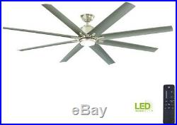Ceiling Fan 72 in. Integrated LED 8-Blades with Light Kit and Remote Control