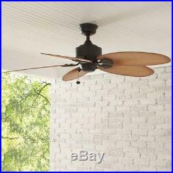 Ceiling Fan Bronze Pull Chain Light Kit Outdoor Mount Indoor Adaptable 52