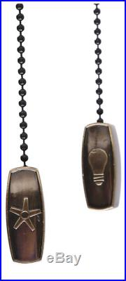 Ceiling Fan Hunter w Light Kit Antique Brass 52'' Walnut Oak 5 Blades Fixture