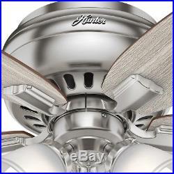 Ceiling Fan LED Light Kit 42 5-Reversible Blades 3-Speed Motor Brushed Nickel