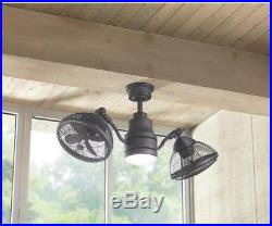 Ceiling Fan LED Light Kit 42 Dual Cage Remote Control Espresso Bronze