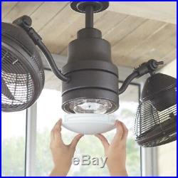 Ceiling Fan LED Light Kit 42 in. 4-Blades Remote Control Espresso Bronze