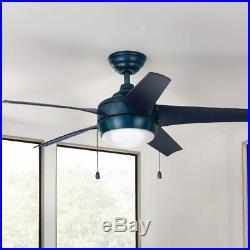 Ceiling Fan LED Light Kit 44 in. Tri-Mount Reversible Motor Pull Chain Blue