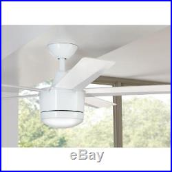 Ceiling Fan LED Light Kit 52 in. 5 Blades Reversible Motor Remote Control White