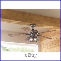 Ceiling Fan LED Light Kit Farmhouse Industrial Indoor Angled Standard Flushmount
