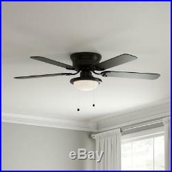 Ceiling Fan LED Light Kit Indoor 3 Speed Reversible Blades Black 52 Inch New