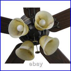 Ceiling Fan LED Light Kit Indoor Flush Mount Iron Finish 52 in