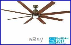Ceiling Fan LED Light Kit Remote 8 Blade Indoor Outdoor Espresso Bronze 72 Inch