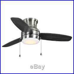 Ceiling Fan Light Kit 44 in. 3-Blades Reversible Motor Dry Rated Flush Mount