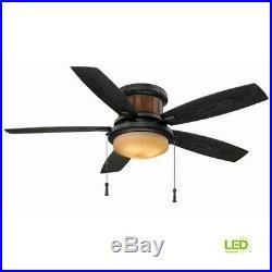 Ceiling Fan Light Kit 48 in. LED 5-Reversible Motor-Blade 3-Speed Flush Mount