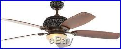 Ceiling Fan Light Kit 52 Reversible Blades 3 Speed Indoor Dual Mount Remote NEW