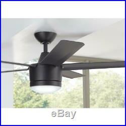 Ceiling Fan Light Kit 52 in. 14-Watt Dimmable LED 3-Speed Remote Control Black