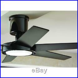 Ceiling Fan Light Kit 52 in. LED Indoor DC Motor Remote Control Glossy Black