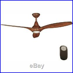 Ceiling Fan Light Kit 56 in. 3-Blade Quick Install Reversible Motor Brown
