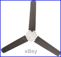 Ceiling Fan Light Kit 60 in. 158 rpm Large LED Indoor Outdoor Natural Iron Black