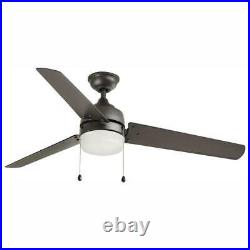 Ceiling Fan Light Kit 60 in. LED Indoor/Outdoor Natural Iron Industrial 3-Blades