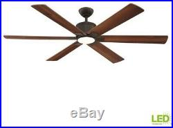 Ceiling Fan Light Kit 60 in. Large LED Indoor 6-Plywood Blade Oil Rubbed Bronze