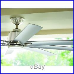 Ceiling Fan Light Kit 72 in. Dimmable LED 8-Blades 9-Speed Remote Controlled