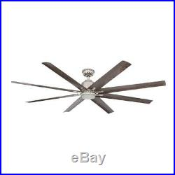 Ceiling Fan Light Kit 72 in. LED 8 Blades 9-Speed Remote Control Included Nickel