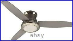 Ceiling Fan Light Kit Brushed Nickel 52 In Indoor Flush Mount Remote 3 Blades