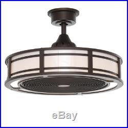 Ceiling Fan Light Kit LED Lamp Enclosed Air Cooler Remote Control Home Decor 23